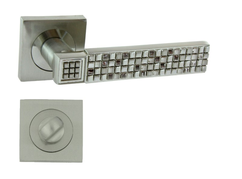 KLAMKA DOTS-QR M9 + ROZETA WC