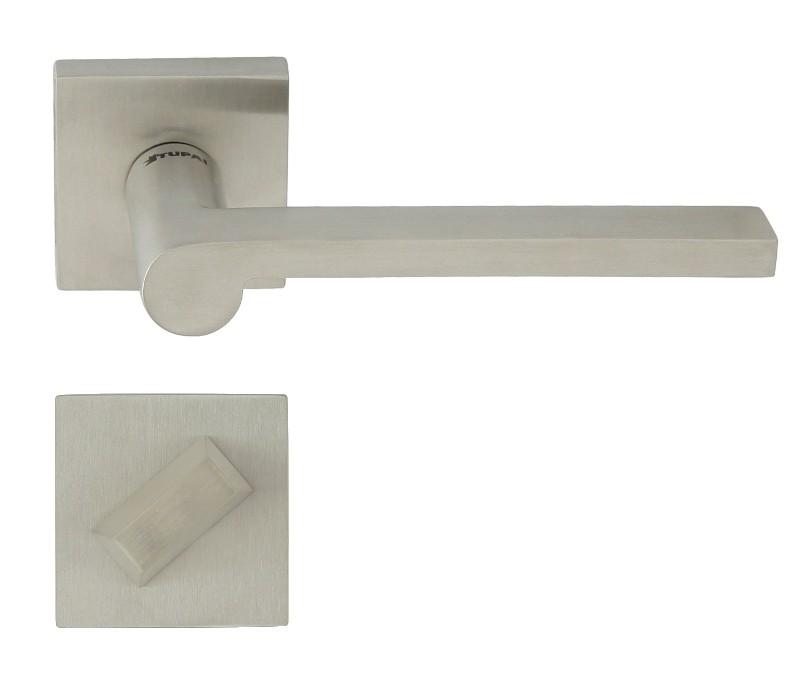 KLAMKA EF FINGER 2252-QR INOX + ROZETA WC