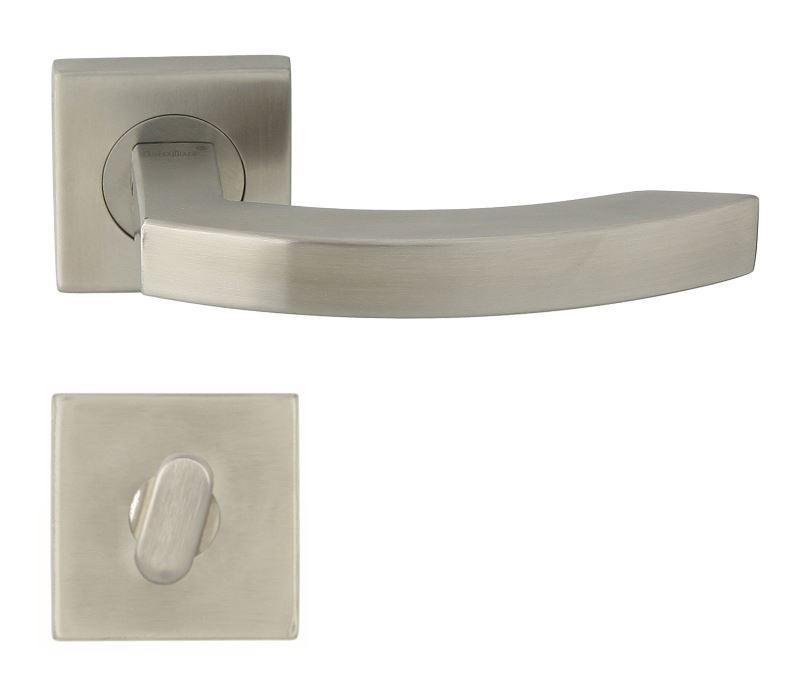 KLAMKA GRISZA-QR INOX + ROZETA WC