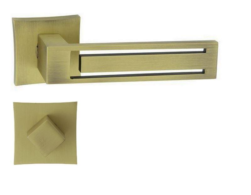 KLAMKA MAGNET-QR M3 MAT + ROZETA WC