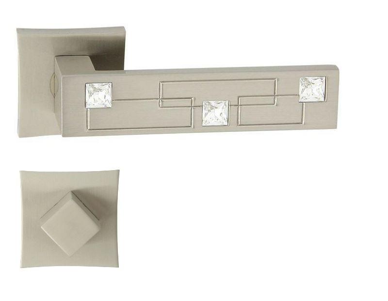 KLAMKA MAYA-QR CRISTAL M9 + ROZETA WC