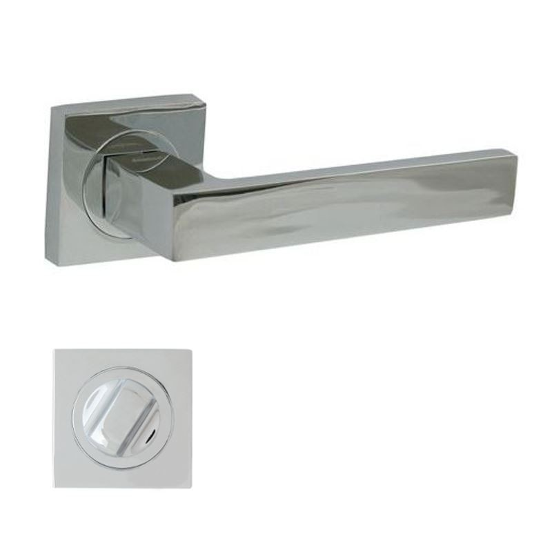 KLAMKA QUBIK-QR M6 + ROZETA WC