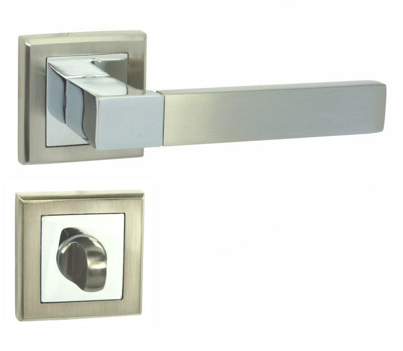KLAMKA REAL-QR M6/M9 + ROZETA WC