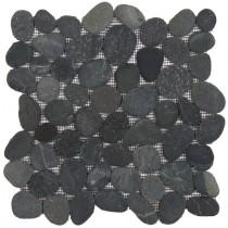 BATI ORIENT GALET RECTIFIE NOIR GANO17 G.1 30X30
