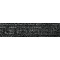 VERSACE PALACE STONE FASCE GRECA RILIEVO BLACK LAPPATO GAT.1 39,4X9,8 114246/0
